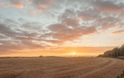 Sunset above Aldbourne by Alex Cranswick