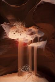 sandfall-antelope-canyon by steve-edwards