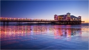 Red Pier Reflections by Anna Stowe