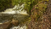 Boulder and Waterfall by Robert Albright