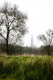 Church of St Hilaire by Terry Onslow