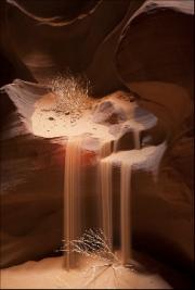 Sandfall, Antelope Canyon by Steve Edwards