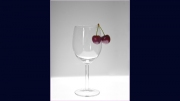 Cherries and Glass by Jim Bullock