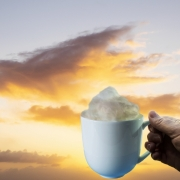 Clouds in my coffee by Kate Fernie