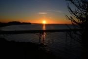 Setting sun by maurice pitt