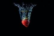 Splash Of Strawberry by John Knight