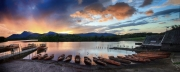 Sunset at the lakes by Mike Stanley