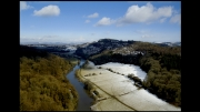 Spring Snow at Symonds Yat by Martin D. Dent